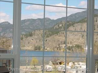 View of Skaha Lake Beach Front, from Living Room