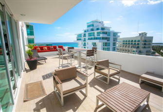 4br 3 5bth Located On The Beach In Famed Cancun Hotel Zone
