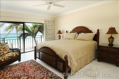 Enjoy the Sound of the Ocean from your Master Bedroom.