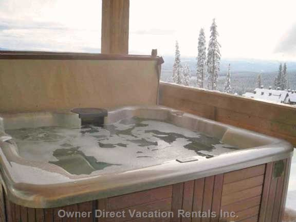 Private Spa on Deck, with Beautiful 180 Degree Valley Views