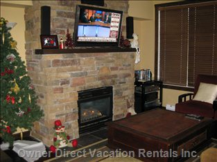Fireplace - Relax in Front of a Cosy Fireplace and Listen to Music Or Enjoy a Movie on the 40&Quot; Flatscreen TV