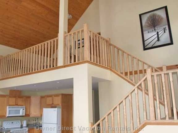 Stair Way Leading to Balcony & Master Suite