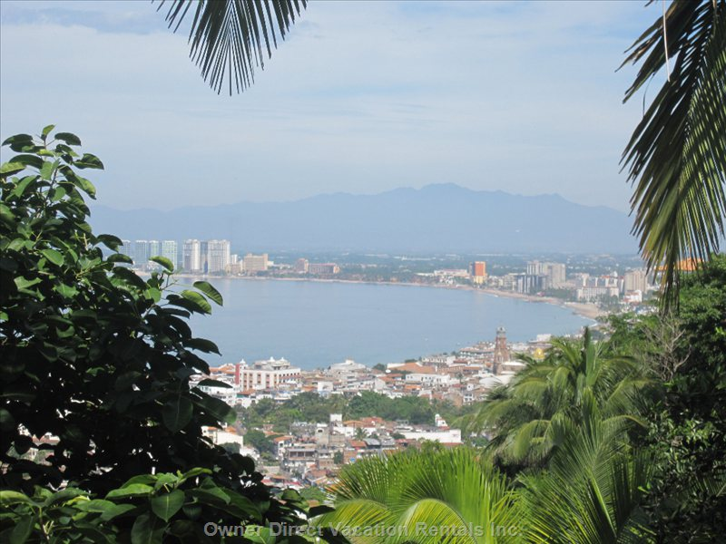 View of Banderas Bay from a Hike above Casa Del Cielo
