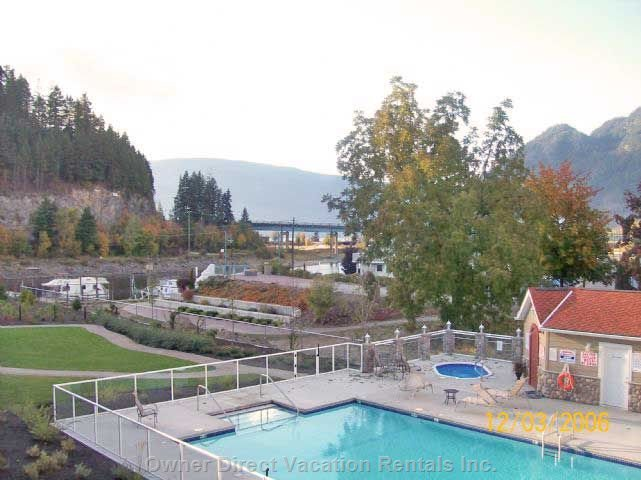 View from Deck Overlooking Sicamous Landing and Channel.