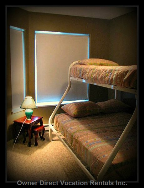 2nd Bedroom Bunk Beds with Double and Single Bed