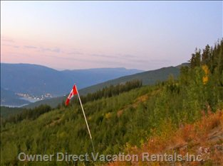 View of Sicamous from a Quading Trail