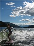 Surfing on Shushwap Lake