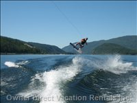 Wakeboarding on Mara Lake
