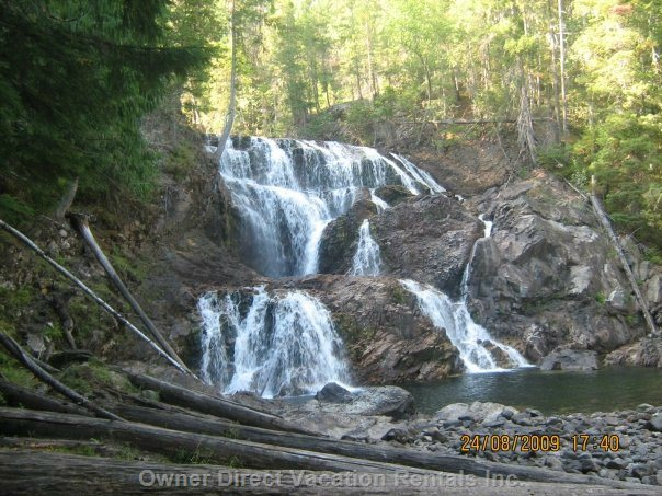 Albas Falls - a Great Hike that you Can Boat To. Just past the Seastore!