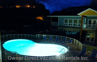 Enjoy a Glass of Wine on the Deck Overlooking the Lake and Pool at Dusk. Beautiful. Relaxing.