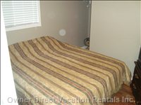 Queen Bedroom Located on the Lower Level with Separate Entrance, Great for Teenagers and an Extra Couple.