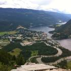 Wow - View of Sicamous Townsite and both Mara and Shuswap Lakes from Sky Diving Platform to the North.