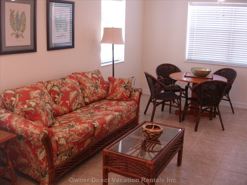 Spacious Living Room and Dining Area...