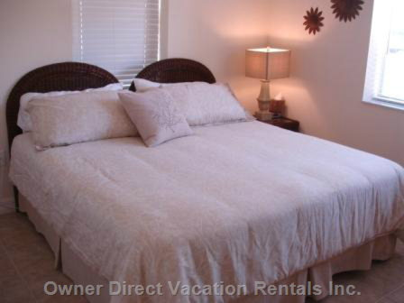 Comfortable King Sized Bed with Adjoining Bathroom...