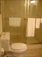 Bathroom with Shower...Always Spotless!