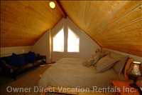 Luxury Master Bedroom with Ensuite and Dressing Room - Huge Bedroom with Cozy Vaulted Ceiling, TV and DVD.