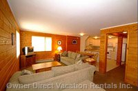 Property Can be Rented in 3 Configurations: Main up, Suite down, Or Whole Chalet - Picture of the Suite.