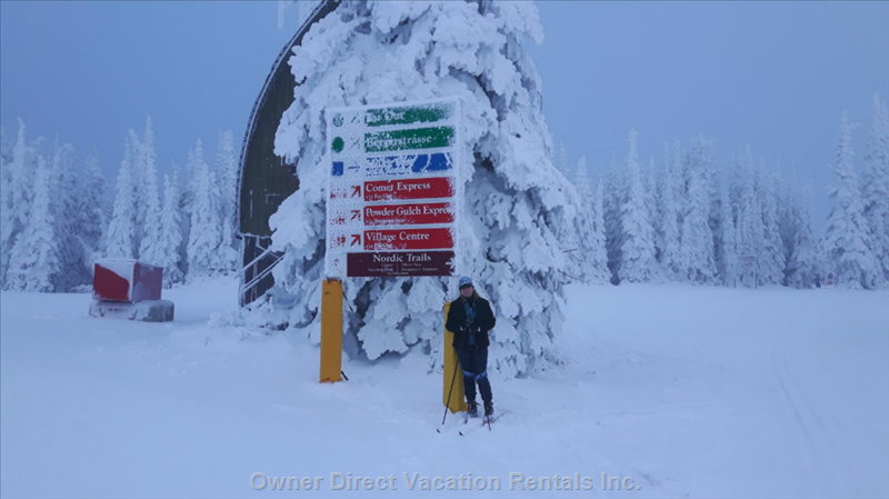 This is How much Snow we Have for Nordic Skiing in November.  This is before Alpine is Even Open.