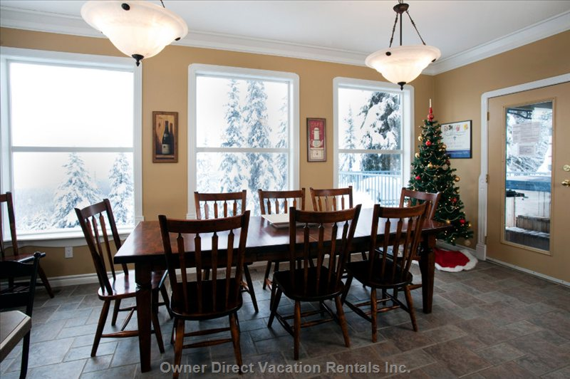 Dining Room with Fabulous Views of the Monashees