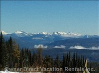 View of Monashee Mountains from Top of Silverstar