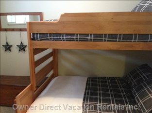 Second Bedroom-Perfect for the Family. This Room has a Double Lower Bunk and Twin Upper Bunk.