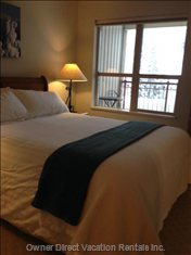 Master Bedroom-Watch the Morning Snow from your Cozy Queen Bed!