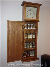 Spice Clock- this Tipler Clock has Been Custom Made as a Spice Rack to Give you all your Spice Needs for your Vacation!