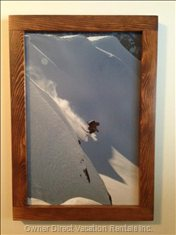 Custom Wood Frames Show off these Beautiful Action Shots. Second Bedroom Photo