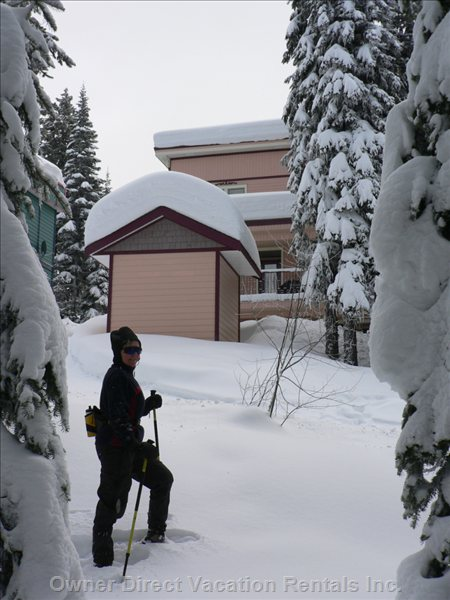 Snow Shoe Trail Starts behind House