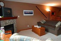 Living Area Showing Hide a Bed