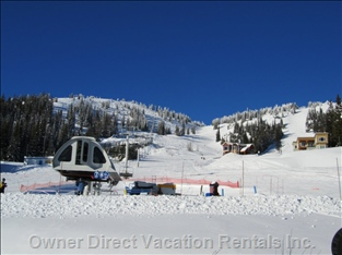 Steps to the Alpine Meadows Chairlift