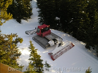 The Grandview Ski Way is Groomed Regularly