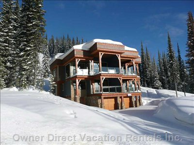 This Gorgeous Custom Built Mountain Home (Duplex) is Nestled on the Ridge of Silver Star Mountain.  View is the Entire Okanagan Valley