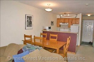 Kitchen and Eating Area with 7 Chairs - Yes, There Are 7 Chairs, but they Are Not all in this Picture.