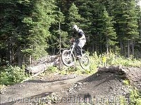 Features in the Mountain Bike Park - Featuring my Son.