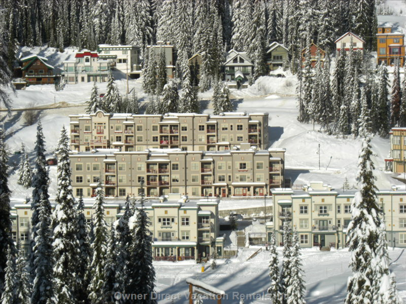 View of Creekside Condos from the Silver Queen Chairlift