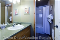 Bathroom - with a Separate Privacy Door to the Toilet and Bathtub/Shower Area.