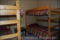 Second Bedroom with 4 Bunks