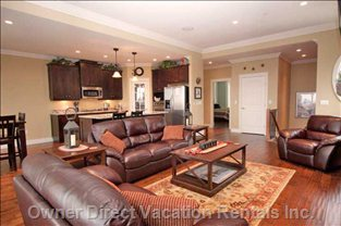 Spacious Open Concept Living Area