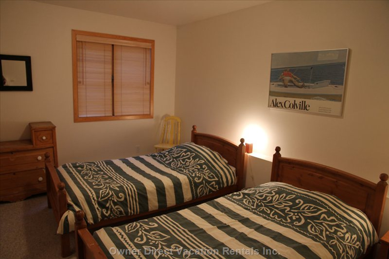 Twin Bedroom - on Same Level as Bunk Room and Shares 3 Piece Washroom.