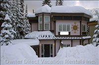 Chalet Entrance with Private Hot Tub and Private Parking