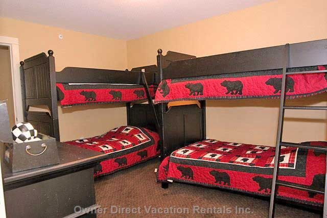 The Bunk Room has 2 Sets of Twin Bunks.