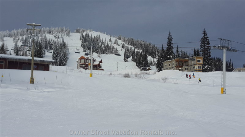 View from Deck of Ski Hill and Alpine Meadows Chair.