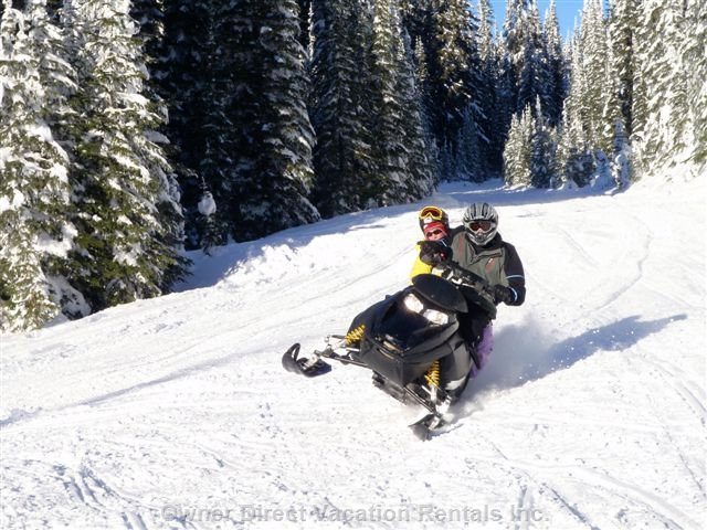 Snow Mobiling - Snowmobiling on one of the many Trails at the Star