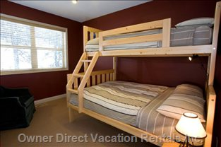 Second Bunk Room with Double/Single Bunk, Upper Level