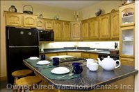 Kitchen Island - the Kitchen is Extremely Well Equipped for those who Enjoy Cooking.