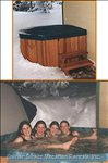 Hot Tub for Six on the Private Deck - Soak and Relax in your Own Private Hot Tub on your Own Private Deck. Private is the Operative Word Here!! the Covered Deck has an Outdoor Six Person Hot Tub and Bbq.