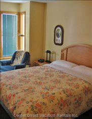 Master Bedroom - the Master Bedroom has a Reading Alcove Overlooking the Ski Hill