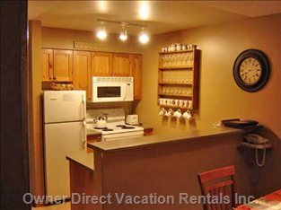 Self Contained Kitchen W/ Dishwasher, Stove and Microwave