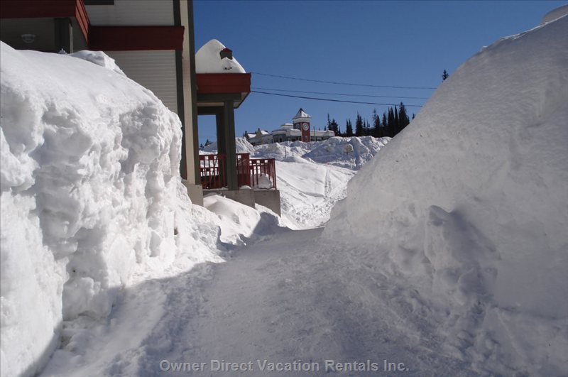Path to Ski Hill from Condo.